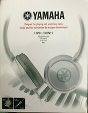 Yamaha - HPH-50WH - On-Ear Closed-Back Adjustable Headphones - White