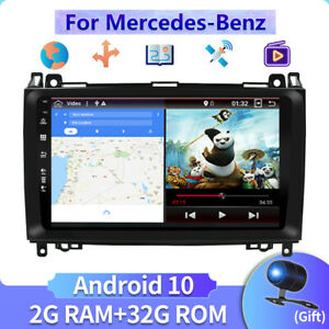"""9""""Car Stereo For Mercedes Benz W639 W169 W245 Vito 3 Viano GPS Android 10.0 Navi"""