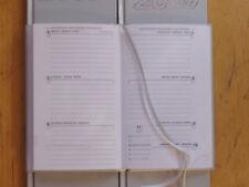 Taschenkalender 2019 silber A6 Buchkalender Taschenterminer, 5 Stück!