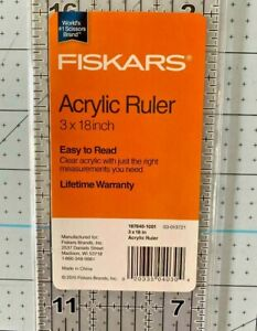 """Fiskars, 3 x 18"""" Acrylic Ruler, 1 each"""