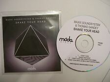 MAXXI SOUNDSYSTEM & THOMAS GANDEY Shake Your Head - 2012 UK CD PROMO - V RARE!