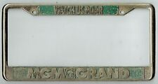 RARE Las Vegas Nevada MGM Grand Hotel Watch Us Roar Vintage License Plate Frame