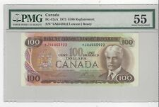 *1975*BOC BC-52aA, $100 Law/Bou SN: JA 6445922  PMG AU-55 Replacement Note
