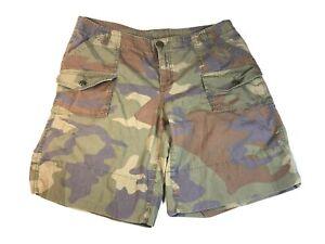 Purple Green Camoflage Women's Cotton Cargo Pants L-XL?