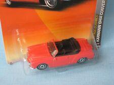 Matchbox VW Volkswagon Karmann Ghia Convertible Red Classic Retro Toy Model Car