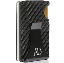 Carbonfiber Billeteras Para Hombre Clip de Dinero Cartera de hombre de metal aluminio caso de la tarjeta RFID