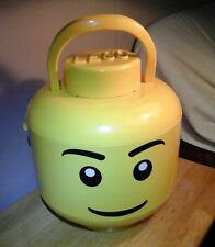 Lego Large Minifigure Head Face Storage Container Yellow Retired Item
