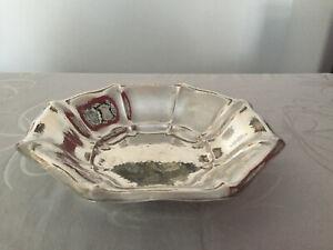 Antike Obst / Gebäck Schale 800 Silber orig. Art Déco um 1930 - Ø28,0cm - 398Gr.