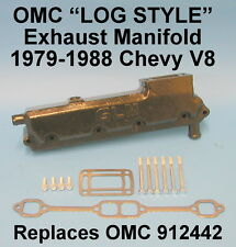 OMC CHEVY V8 305 350 LOG EXHAUST MANIFOLD 1979-1988 912442 PORT SIDE REAR ELBOW