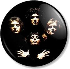 "QUEEN 1"" Pin Button Badge Rock Band Freddie Mercury Bohemian Rhapsody Brian May"