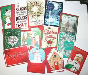 New BULK LOT Hallmark Christmas Greeting Cards Assorted Holiday W/Envelopes 100s