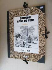 TRAIT POUR TRAIT EDITIONS GLENAT GRIMION GANT DE CUIR ET CORBEAU BLANC NR SIGNE