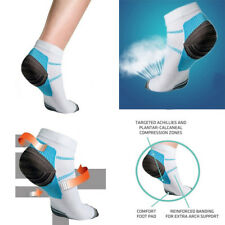 1Pair Unisex Heel Foot Arch Pain Relief Support Fasciitis Compression Socks New