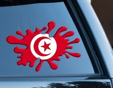 Tunisia, football Flag Splat Decal Sticker Car Van Laptop suit case sport travel