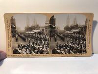 Incoronazione Edward VII London Londra UK Foto Stereo Vintage Analogica
