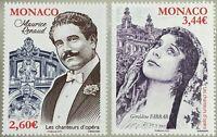 Monako Monaco 2019 Michel Nr. 3436-37 Opernsänger Bariton Maurice Renaud Sopran