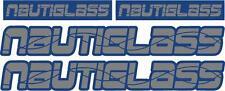 NAUTIGLASS - SET OF 4 DECALS - BOAT DECALS