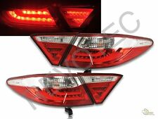 Red Clear LED Tail Lights Lamps Set RH + LH For 2015-2017 Toyota Camry 4Dr Sedan