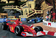 Michael Schumacher Ferrari F2001 F1 Car Monaco Loews CANVAS Art Print Top Poster