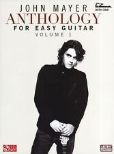 John Mayer Anthology Learn to Play Pop Rock EASY Guitar TAB Music Book