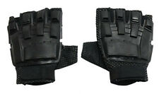 Airsoft Paintball Tactical Armored Half Finger Gloves Black XSmall 222XS