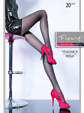 Fiore Veronica Golden Line Lurex Tights 20 Denier  Sparkly Sheer tights