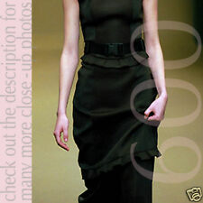 MIU MIU Wool & Nylon Buckle Drawstring Skirt I38/S