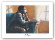 AFRICAN AMERICAN ART PRINT The Letter by Monica Stewart