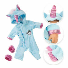 Unicorn Jumpsuit Sets Doll Clothes with Shoes Baby Dolls Decor Clothing Gift Kit