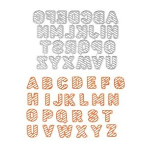DIY Alphabets Letters Design Metal Cutting Dies Embossing Scrapbooking Stencil A