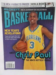 Beckett Basketball February 2006 Issue #187 CHRIS PAUL Cover
