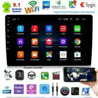 "10.1"" 2 Din Android 9.1 Car Stereo FM Radio Wifi MP5 Player GPS Navi Quad Core"