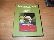 Student Resources DVD ROM To Accompany Prealgebra With Robert Prior WIN/MAC NEW