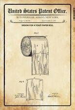 US Patent Toilettenpapier Toilet Paper 1891 Blechschild Tin Sign 20 x 30 cm
