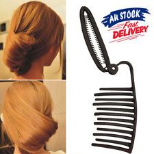 Women Bun Boost French Hair Styling Clip Maker Fast Volume Updo Twist DIY Comb