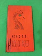 House of Incest, Anais Nin, presumed 1st Amer edition, Gemor