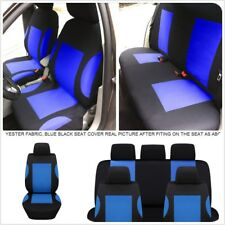 9X Breathable Polyester Blue Car Seat Cover Protector for Auto Front Rear Seat