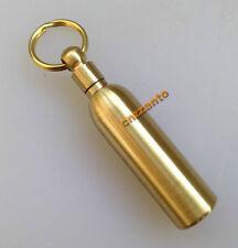 Brass Outdoor EDC Key chain ring Golden oil lighter fuel canister bottle Z35B