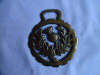 Vintage Horse Brass Scottish Thistle