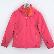SPYDER Girl's Pink Orange Hooded Ski Jacket Coat Snowboard Winter Snow size 12