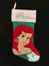 "Disney Little Mermaid Ariel 19"" Deluxe Aqua Green Christmas Stocking"