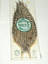 New listing Metz Vintage Barred Variant Rooster Cape Neck #3 Feathers Dry Fly