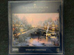Thomas Kinkade Spirit of Christmas 1000 piece jigsaw puzzle  [New & Sealed]