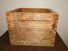 New listing Vintage Early Computer 1952 Monroe Computing Listing Machine Wood Shipping Box
