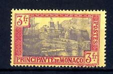MONACO - 1924/33 - Soggetti vari (stemmi, effigi e vedute). Tipografati - 3 fr.