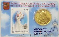 Stamp & Coin Card Vatikan, Vatican, 2011