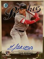 YOAN MONCADA RC ON CARD AUTO 2017 BOWMAN CHROME ROY #/150 WHITE SOX LOWEST $ HOT