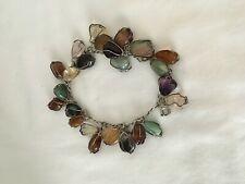 Vintage Charm Bracelet With Polished Stones