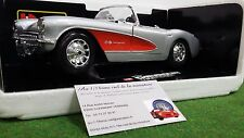CHEVROLET  CORVETTE 1957 cabriolet 1/18 BURAGO 3024 voiture miniature collection
