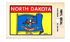 Lot of 12 North Dakota State Flag Luggage Decals Stickers - New - Free S&H